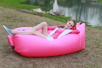 deck chair - 2016 Fashion Outdoor Gear Lamzac Inflatable Travel Sleeping Bag Camping Casual Lazy Sofa Deck Chair Sleep Bag for Beach Home Lawn DHL