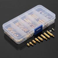 Wholesale 120 set Cheap Universal Gold Metric Sizes M3 Brass Standoffs Nut Screws Assortment Kit PCB standoff Set Box High Quality
