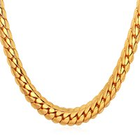 Wholesale 18K Rose Gold Plated Necklace With K Stamp Men Jewelry inch Snake Chain Necklace Shipping from U S
