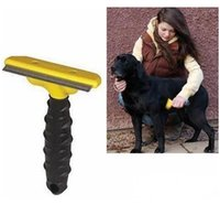 best pet brush - Best Quality Pet Dog Cat Removal Comb Brush Pet Grooming FUR DeShedding Shearing Tool Rake