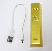 bar battery pack - 2600mAh Power Bank gold bar Multi Baterry Charger External Backup Battery Pack for iphone samsung htc hot sale