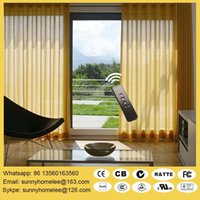 Wholesale Silent curtain motor for curtain blind single or double track curtain blinds sofy start stop size customed acceptable