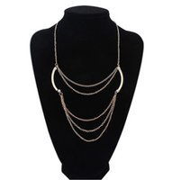 Wholesale Statement Necklace New Fashion Gold Plated Multi layer Chain Chokers Necklaces Women Jewelry Imitation Pearl Clavicle Necklaces SN641