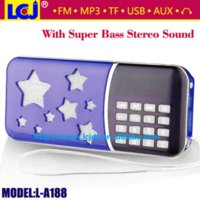 usb flash drive factory price - factory price mini portable radio mini speaker MP3 player with stereo sound support TF card and USB flash drive