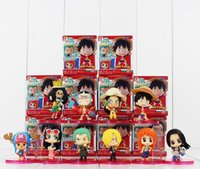 america chopper - One Piece Luffy Nami Robin Chopper Sanji PVC Action Figure Collectable Model Toy for kids gift
