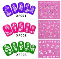 Wholesale XF001 XF050 type Nail Sticker Palm Flower Flamingos Water Transfers Stickers Nail Decals Stickers Water Decal Opp Sleeve Packing