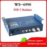 av digital modulator - Satlink WS AV input single channel DVB T digital sattlite finder Modulator Compact and wall mountable WS6990 WS