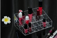 Wholesale Lipstick Holder Display Stand Clear Acrylic Cosmetic Organizer Makeup Case Sundry Storage makeup organizer organizador free ship