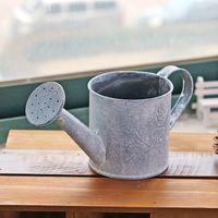 Wholesale Postoral Mini Small Metal Iron Pot for Home Decor Vintage Tabletop Flowers Holder Table Ornaments Bonsai Holders