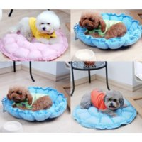 bedding by color - High Quality Cotton Small Medium Pet Dog Puppy Cat Soft Fleece Cozy Nest Bed House Cotton Mat Color Send By Random SGG