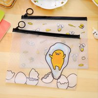 Wholesale kawaii Cartoon egg File Bag For Documents PVC Document Holders transparent document bag bag paper clip cm