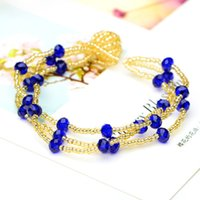 beaded indian crafts - Exquisite weaving crafts fashion generous new beads three layer PS00195 Bracelet