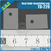 Wholesale 100Pair Insulation Bushing Silicon Rubber Pad For TO Package Heat Sink Insulating cap
