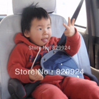 Wholesale 2 baby car safety belt adjuster child safety belt positioner Blue color M50957 Child Car Safety Seats