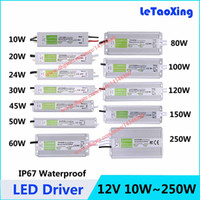 Wholesale 5pcs DC V W W W W W W W W W W W LED Driver Transformers Waterproof Lighting Transformer Power Supply