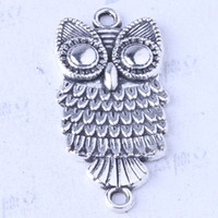 Wholesale Owl charms antique Silver bronze alloy zinc Pendant DIY jewelry pendant fit Necklace