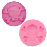 Wholesale Hot Halloween Handmade Chocolate Silicone Mold Cake Decorations Pink Skull Baking Mold A Series Of Halloween Skull Mold