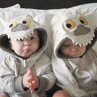 Wholesale Toddler Baby Winter Jackets Boys Warm Animal Hoodies Zipper Fleece Outwear Coat Kids Clothing Size Years