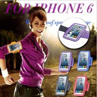 Wholesale Waterproof Running Arm Band Leather Case For iphone plus Mobile Phone Holder Pouch Belt Cover For iPhone Plus