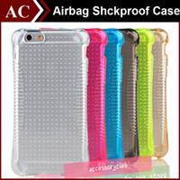 airbag cover - Airbag Anti shock Colorful TPU Case For iPhone S SE S Plus Soft Clear Silicone Gel Cover Small Waist Transparent Air Float Skin