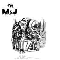battle band - In battle Robot Carman men sale titanium stainless steel ring fashion jewelry STR5