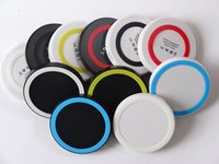 Wholesale 50pcs S6 Qi Wireless Charger Cell phone Mini Charge Pad For Qi abled device Samsung nokia htc LG cellphone with retail package JE13