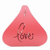 Wholesale Candy Box Chocolate Boxes Gift Laser Paper Boxes Wedding Favors Holders White Purple Pink Blue Heart shaped