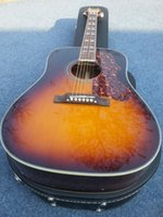 Wholesale 2016 new factory high quality the sun color acoustic guitar