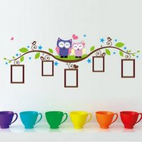 bedroom decorating photos - DIY Owl Photo Frame Removable Wall Decal Sticker Home Decoration perfect for decorating your room