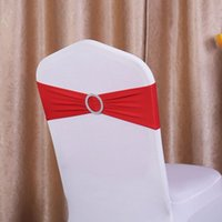 Wholesale 200pcs Spandex Lycra Wedding Chair Cover Sash Bands Wedding Party Birthday Chair Decoration Colors Available Fast Ship DHL Free