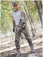 Wholesale Good quality Men s Tactical Airsoft Paintball Combat Uniform Shirt Pants Military Army MultiCam Suit colors