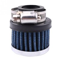 Wholesale Blue Vehicle Car Mini Cold Air Intake Air Filter Fuel Cleaner MM Universal