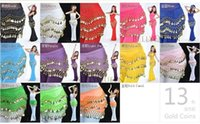 belly dance wraps - Stage Wear mix Colors Rows Coins Belly Egypt Dance Hip Skirt Scarf Wrap Belt Costume