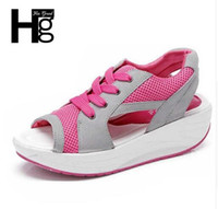 b healthy - Hot Healthy Women Sandals Peep Toe Women s Wedge Casual Shoes Popular Colorful Summer Shoes Woman XWZ189
