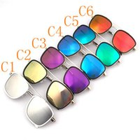 Wholesale 20pcs Metal Sun Glasses Man Sunglass Square Full Frame Glasses Driving Riding Bicycles Fashion Sunglasses colors ZT