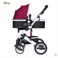 Wholesale Oley stroller high landscape can sit can lie suspension winter and summer bb car baby two way portable folding carts