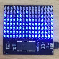 Wholesale single chip music spectrum display LED level indicator model DIY Kit spectrum level indicating thermometers