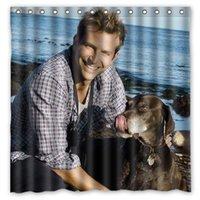 bath shower curtain beach - Charles bradley cooper Dogs Beach Pattern Custom x cm Waterproof Fabric Fashion Bath Shower Curtain
