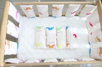 baby crib packages - Summer breathable cotton Baby Crib Bumper baby crib ruffle gift package guardrail bed Baby crash barrier