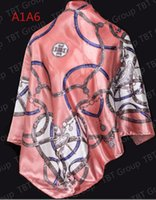 gift - tbtgroup explodes90 cm big squares multicolor emulation silk scarves H chain classic home selling WOMEN scarves FOR LADY NICE GIFT