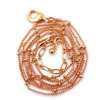 Bohemian ball chain lot - 20 inch rose gold ball station necklace chains