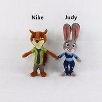 aa dolls - AA Zootopia Judy Hopps Nick Wilde cm good quality plush stuffe toys doll for children kid gift