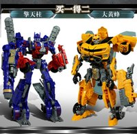 Wholesale 4 Bumblebee Optimus Prime deformation suit Cartoon robot car model children s toys