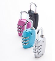 Wholesale Luggage Combination Lock Customs Luggage Padlock Resettable Digit Combination Padlock Suitcase Travel Lock TSA locks