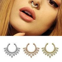 Wholesale New arrival alloy nose hoop nose rings body piercing Jewelry Fake Septum clicker non piercing for women piercing fake septum BH0002