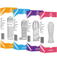 Cheap Adult Sex Products 4pcs Crystal Cock Rings Reusable Condom Sexy Toys Penis Sleeves Penis Extension Cock Rings