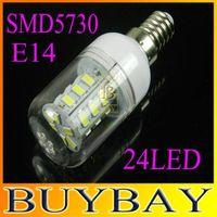 Wholesale Retail LEDS V V SMD LED corn bulb lamp W SMD5730 E14 spotlight Warm white white led lighting E14 LED light