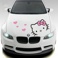 Wholesale KT cat hello Kitty machine cover car stickers cartoon cute floats epicranium body decoration car sticker