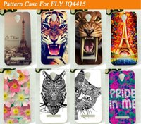 beautiful tigers - Paris Tower Beautiful Scenery Cool Tiger Lion Patterns DIY Cases Soft Back Cover for FLY IQ4415 HOT SALE Soft TPU Cover
