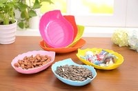 Wholesale Fruit Dishes Candy Tray Leaf Shape Plastic Plates Snacks Dishes Kitchen Tools Plates zf